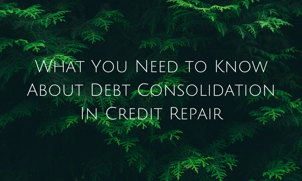 debt consolidation in credit repair