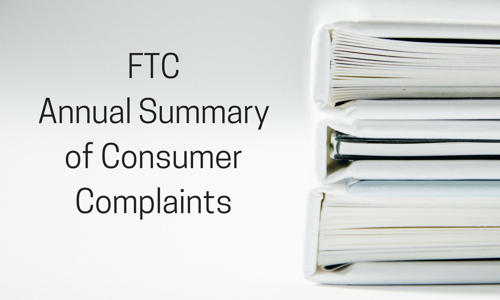FTC Annual Summary of Consumer Complaints
