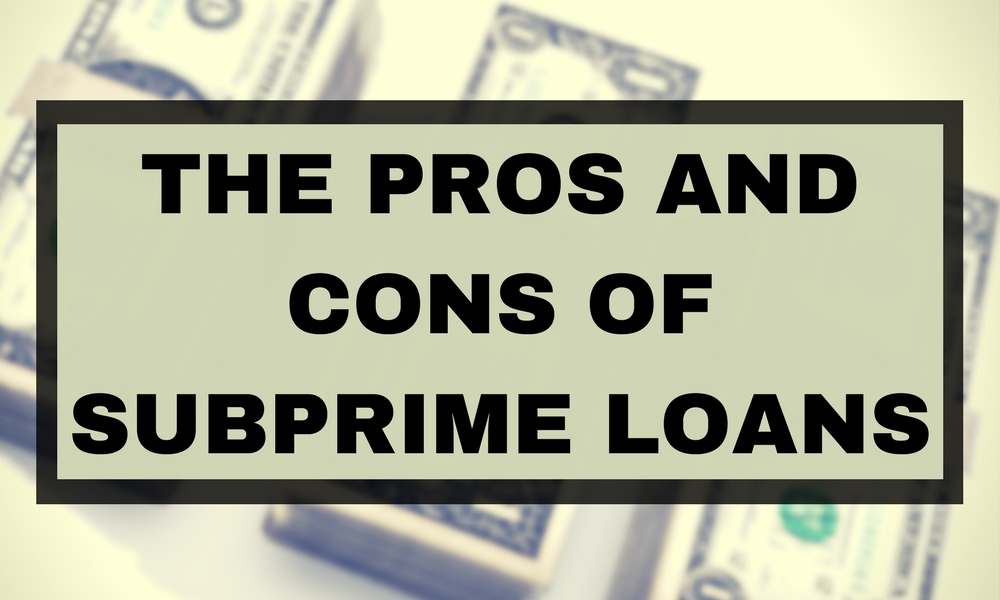 subprime loans Government-backed subprime loans are coming to a lender near you soon unless the fha gets overwhelmed and screws this up completely, which is very li.