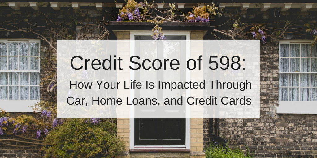 credit score of 598