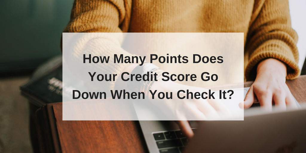 how many points does your credit score go down when you check it